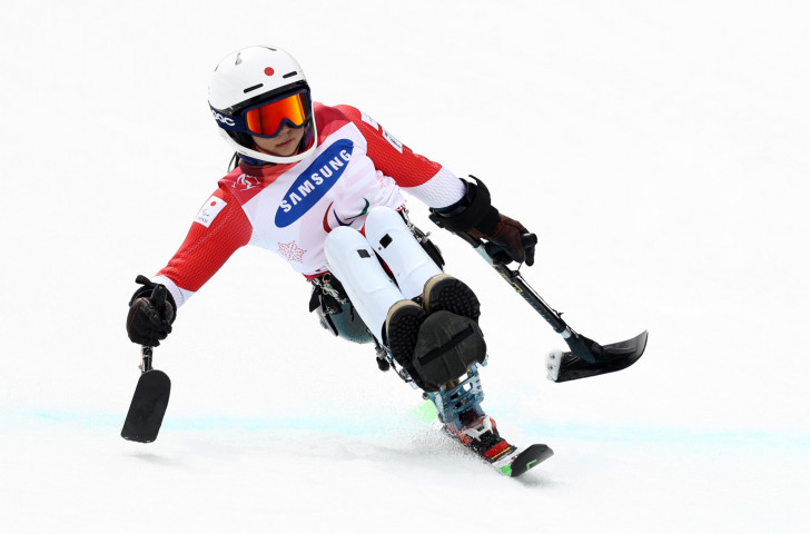 Japan's world champion Momoka Muraoka won her third giant slalom sitting race at the World Para Alpine Skiing World Cup at La Molina today ©Getty Images