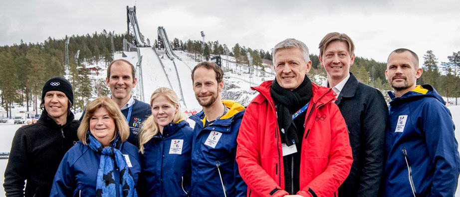 The IOC Evaluation Commission inspecting the Stockholm Åre 2026 bid were in Falun today ©Falun Municipality