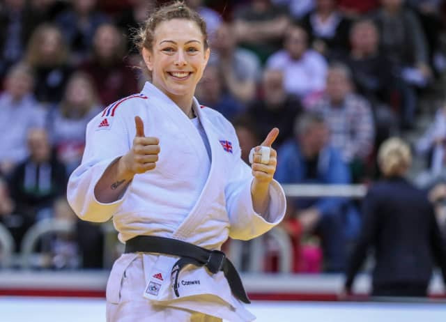 Britain's Olympic bronze medallist Sally Conway faces a stern challenge from Italy's 20-year-old world junior champion Alice Bellandi in the women's under-70kg class at the IJF's Ekaterinburg Grand Slam ©IJF