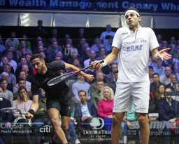 Elshorbagy loses another of his titles at PSA Canary Wharf Classic as Momen gains momentum
