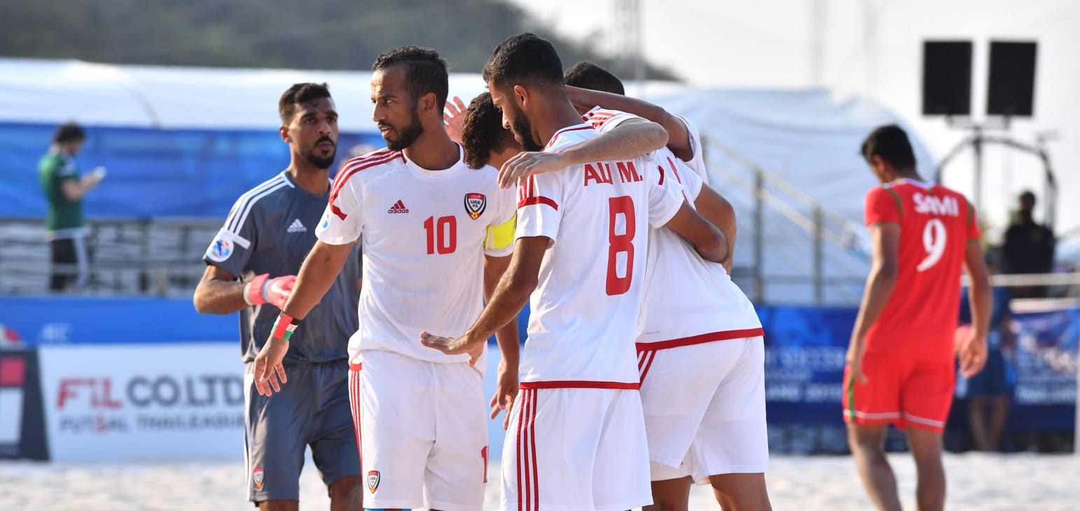 The UAE reached the final of the AFC Beach Soccer Championships for the second time in a row with a 3-2 win over Oman ©AFC
