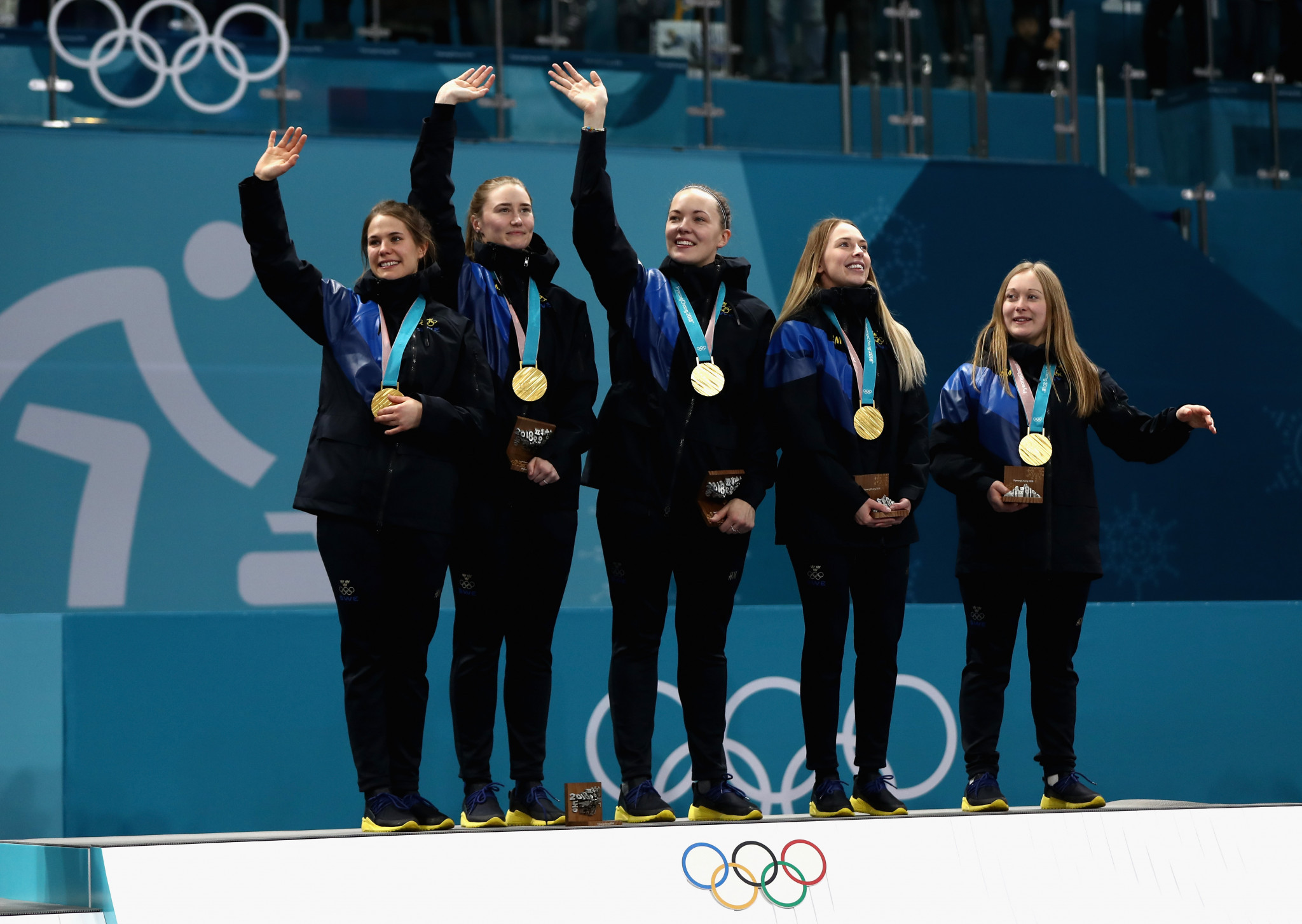 Pyeongchang 2018 women's curling champions Sweden will seek to win world gold in Denmark starting tomorrow ©Getty Images