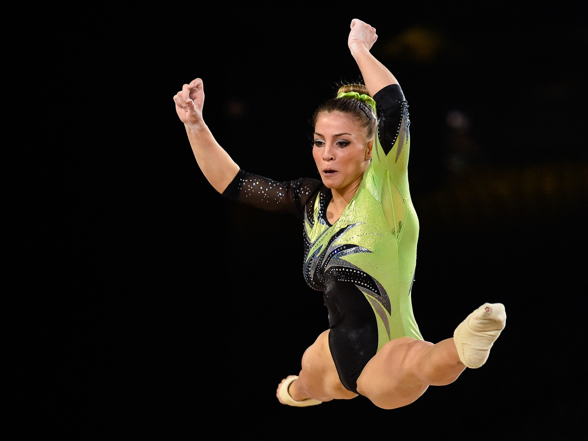 Italy's Lara Mori topped women's floor qualifying at the FIG Individual Apparatus World Cup in Baku ©Getty Images