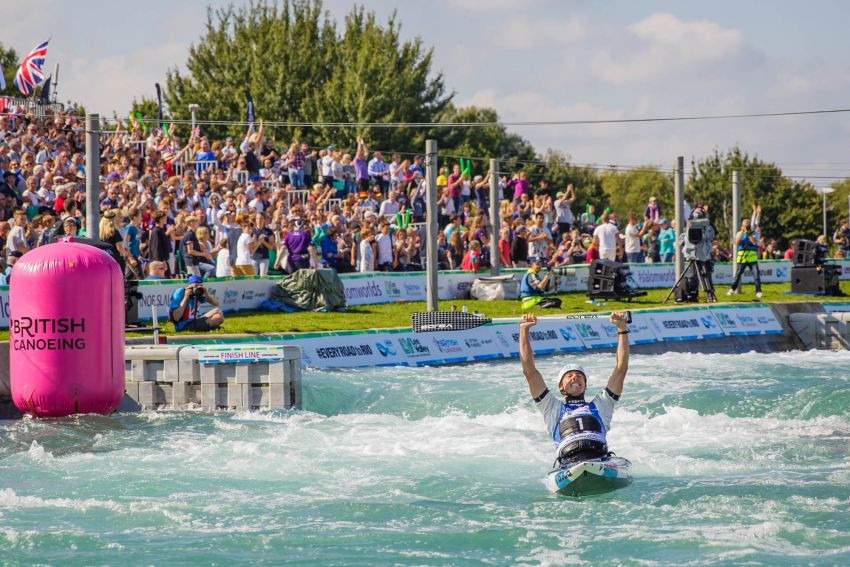 Lee Valley, built for the 2012 Olympic Games, has been chosen to host the 2023 ICF Canoe Slalom World Championships having previously staged them in 2015 when they were a qualifying competition for Rio 2016 ©British Canoeing