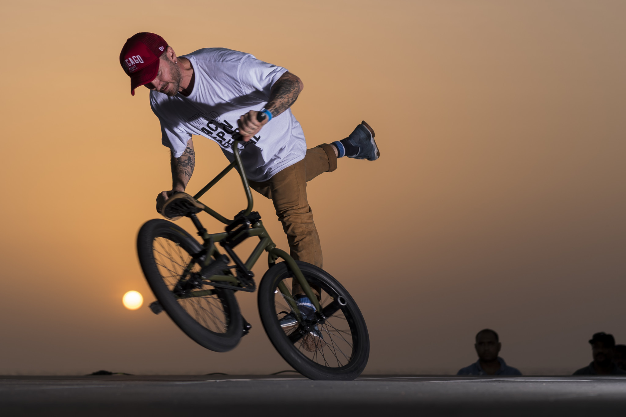 Four-time BMX flatland world champion Alex Jumelin topped qualifying at the FISE Battle of the Champions in Saudi Arabia ©Getty Images