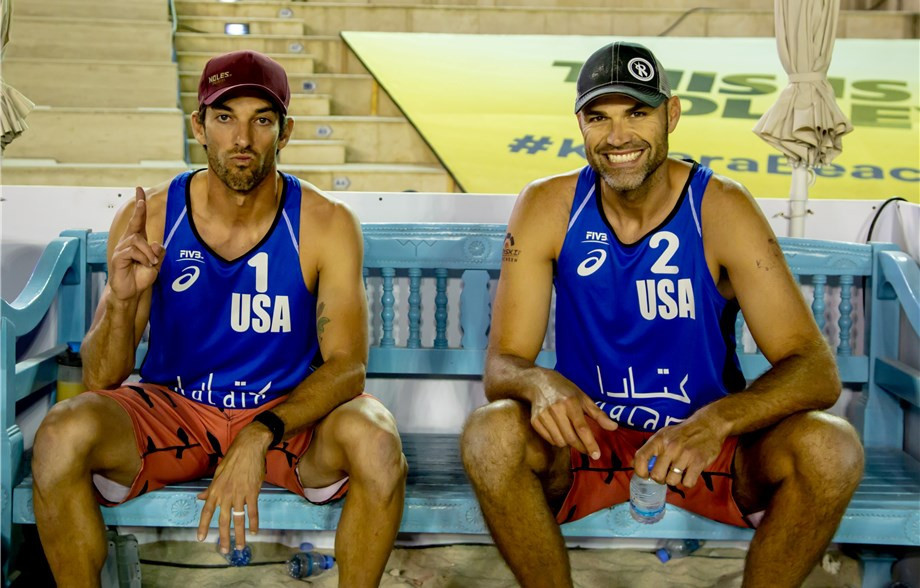 Phil Dalhausser and Nick Lucena of the United States have marked their return to competition by reaching the final at the Doha FIVB Beach Volleyball World Tour event ©FIVB