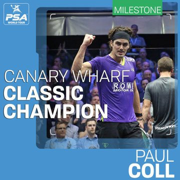Kiwi Coll dedicates PSA Canary Wharf Classic title win to New Zealand shooting victims