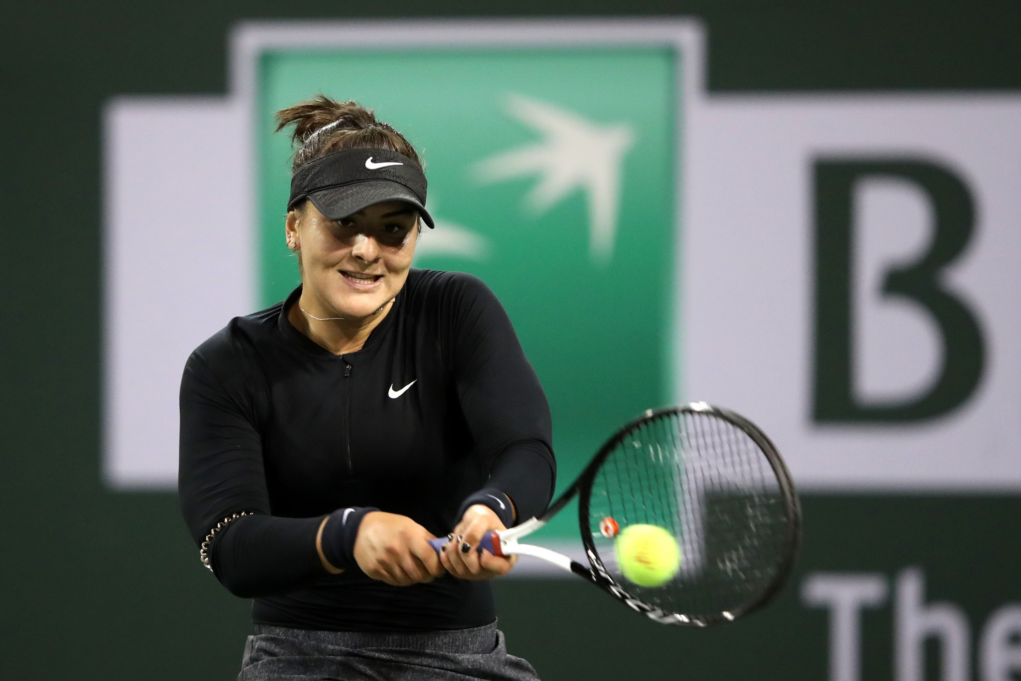 Canada's Bianca Andreescu became the first wildcard to make it to the Indian Wells women's final ©Getty Images