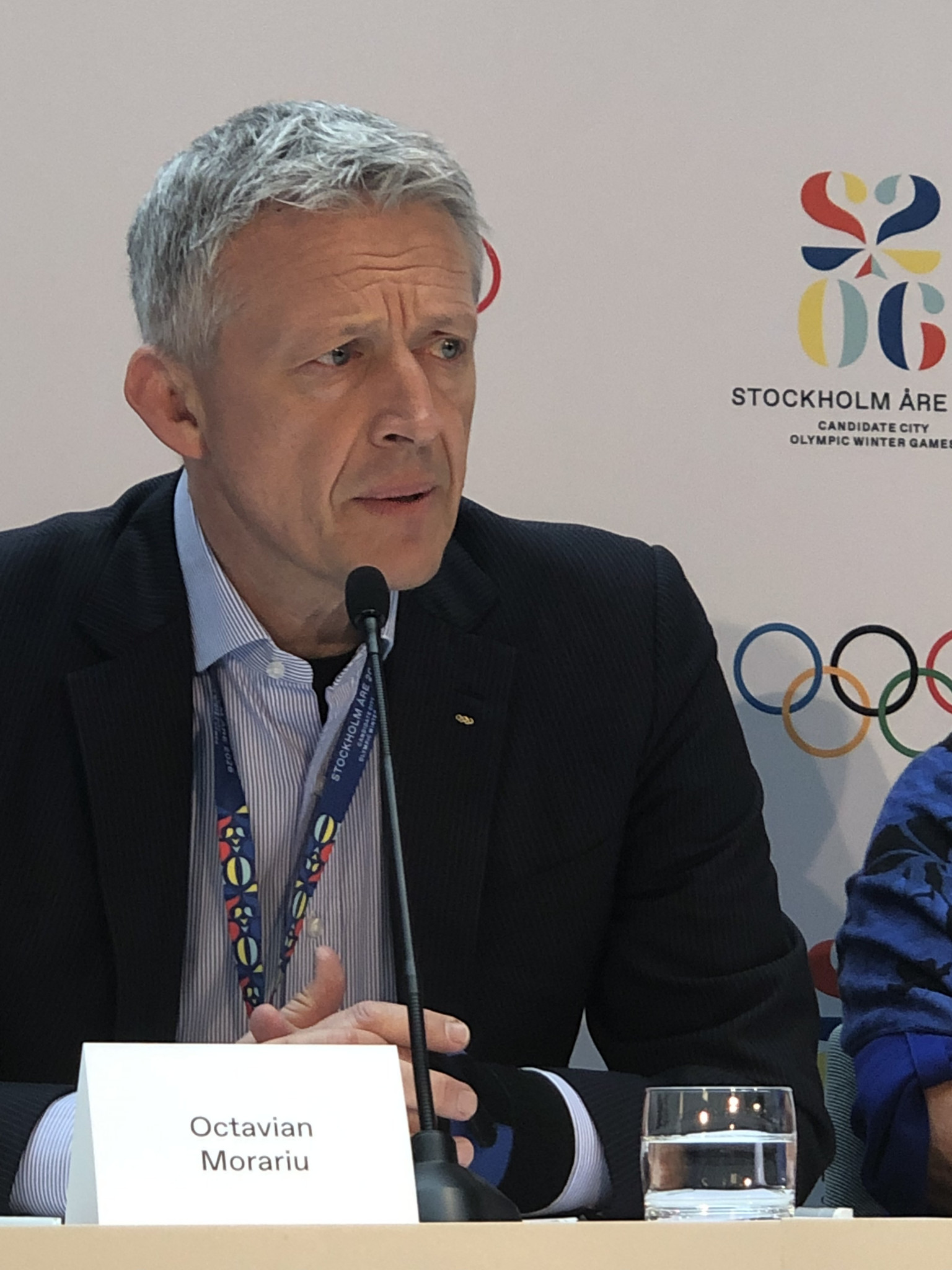 IOC Evaluation Commission chair Octavian Morariu admitted there remained doubt over the Government guarantees but was otherwise about upbeat about the Stockholm Åre 2026 bid ©ITG