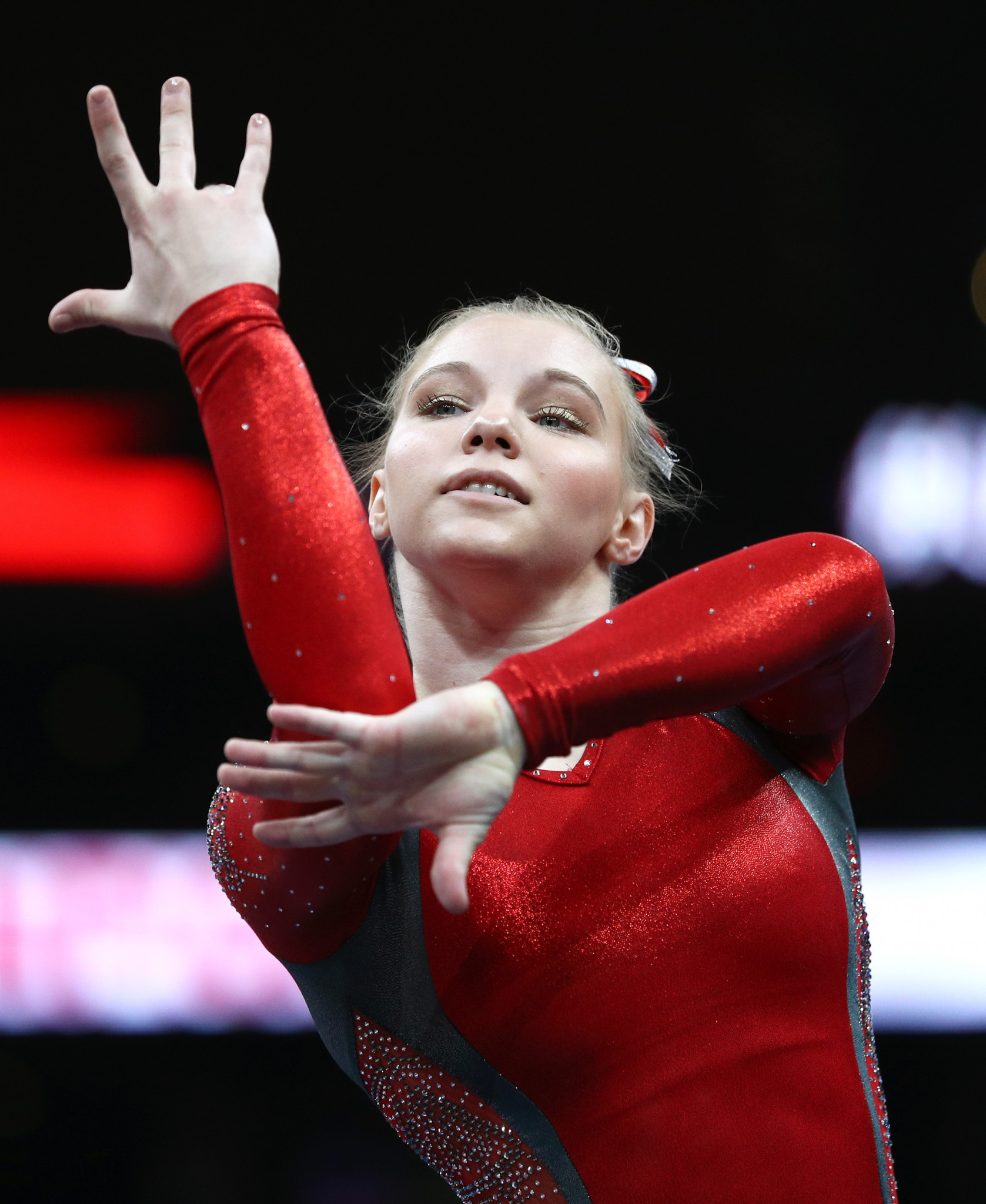 Canada's Jade Carey won the vault, scoring 14.766 points, at the FIG Individual Apparatus World Cup in Baku ©Getty Images