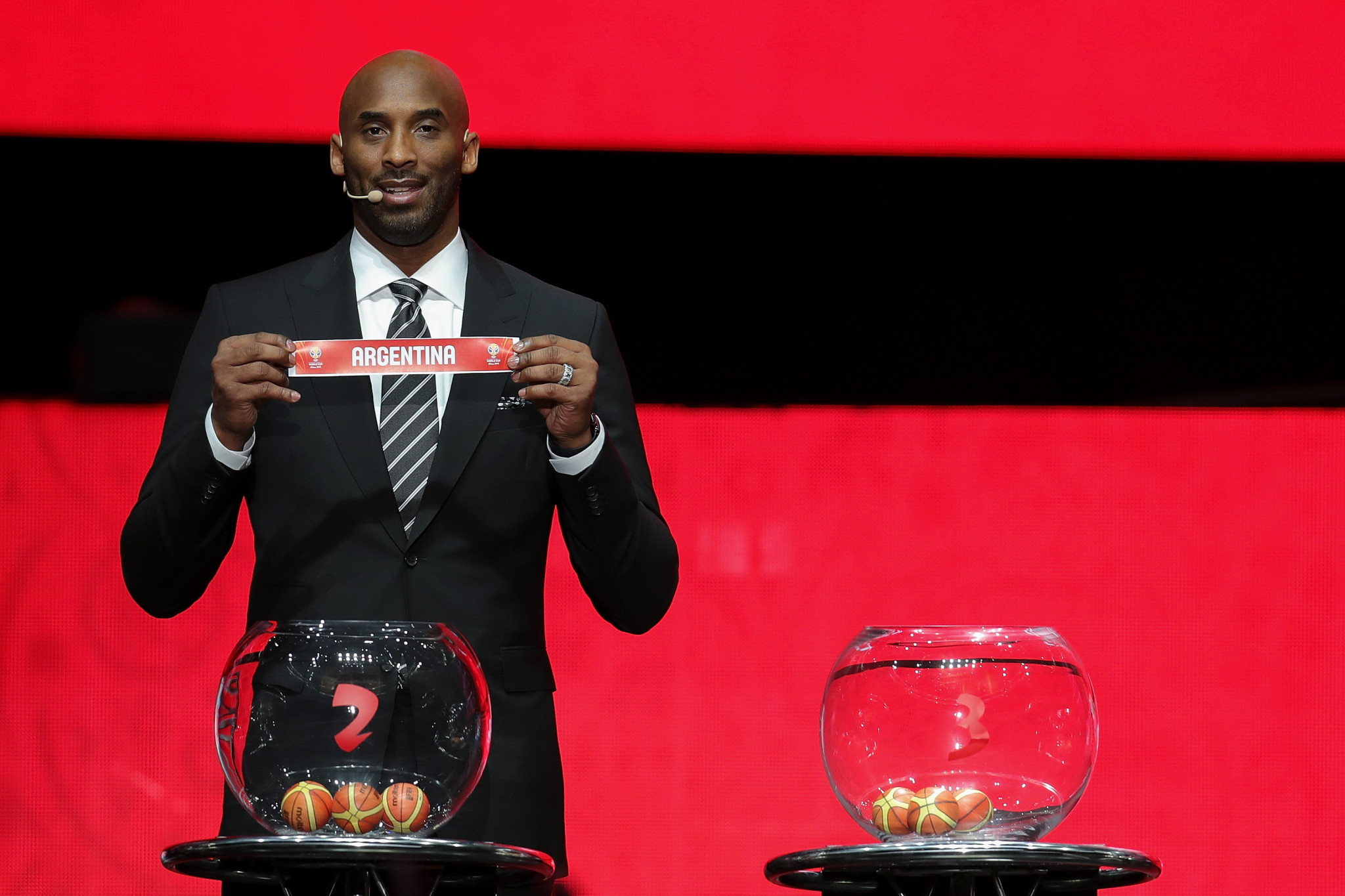 America's Kobe Bryant was at the FIBA Basketball World Cup 2019 draw in Shenzhen ©Getty Images
