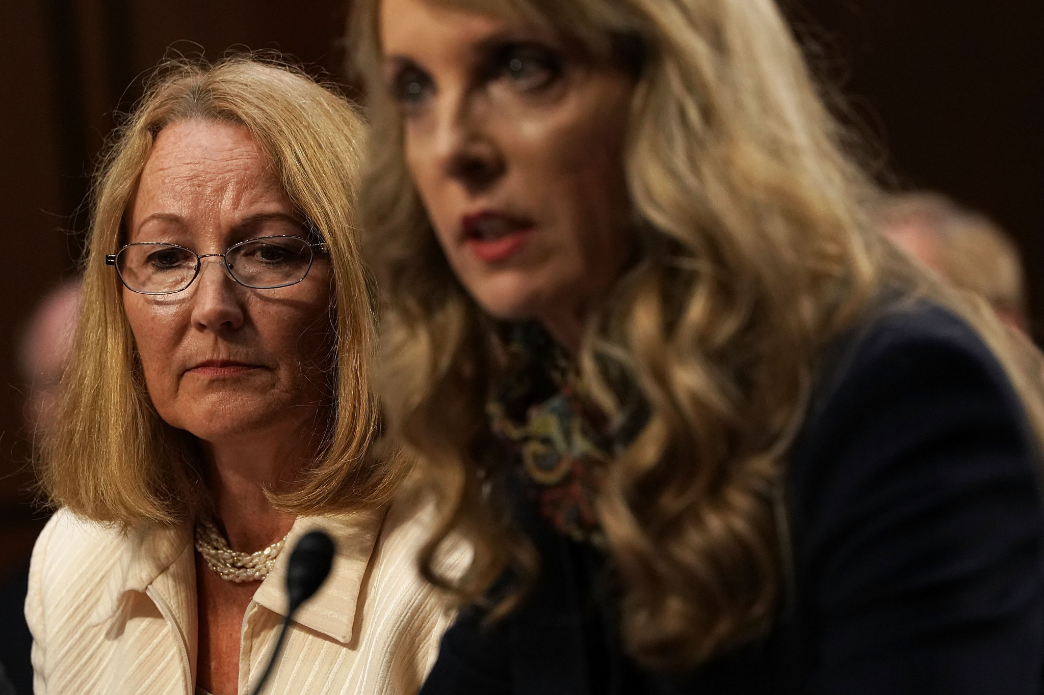 United States Olympic Committee chair Susanne Lyons, left, has claimed the body will not file for bankruptcy despite several lawsuits against it following the gymnastics scandal involving Larry Nassar ©Getty Images