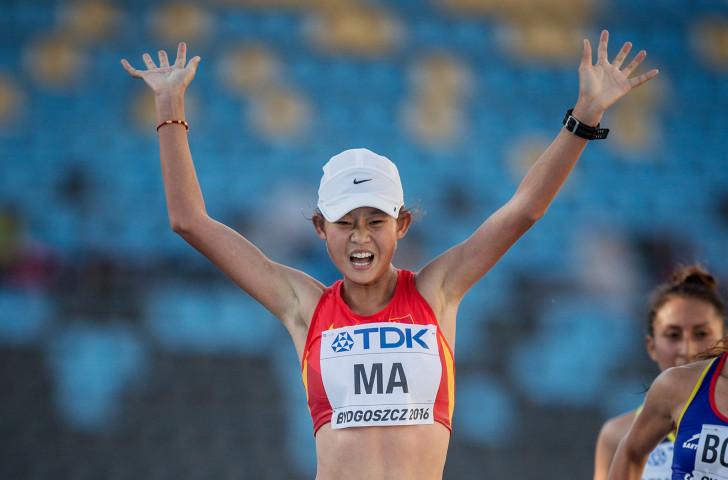 China's Ma Zhenxia is favourite to win the Asian 20km Championships tomorrow - and the race in which they sit, the third leg of the IAAF's 2019 Race Walking Challenge ©Getty Images