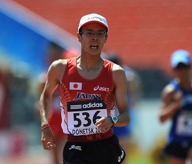 Japan's Toshikazu Yamanishi is favourite to win the Asian 20km title within the IAAF Race Walk Challenge event in Nomi City tomorrow ©Getty Images