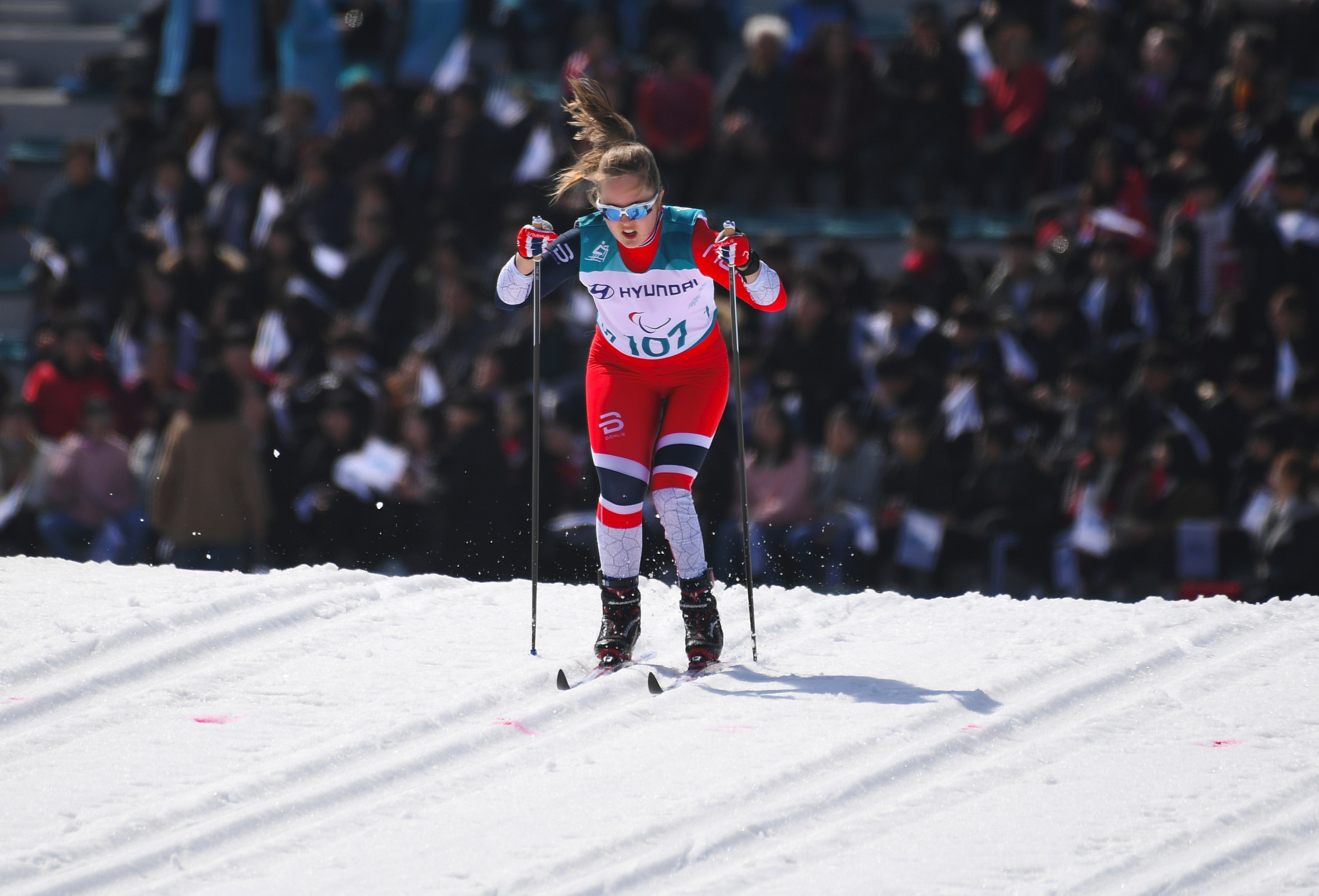 Norway's Vilde Nilsen took the women's standing cross-country title after triumphing in today's middle-distance race at the World Para Nordic Skiing World Cup in Sapporo ©Getty Images