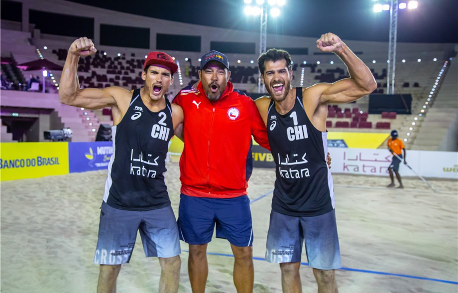 Chile's Grimalts win back-to-back FIVB Beach Volleyball titles in adding Doha to Sydney gold