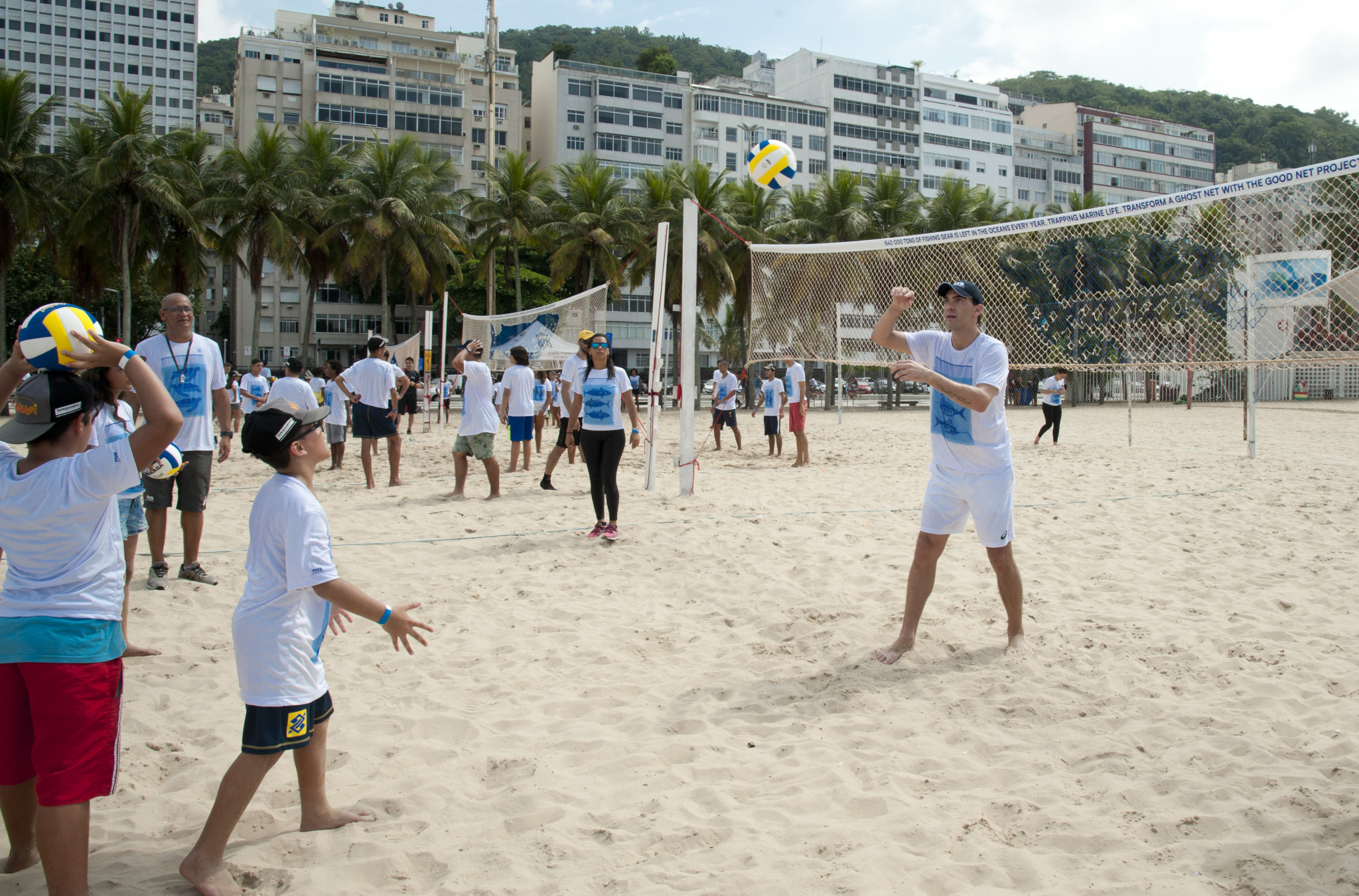 Brazilian volleyball star Giba attended the Good Net launch ©FIVB