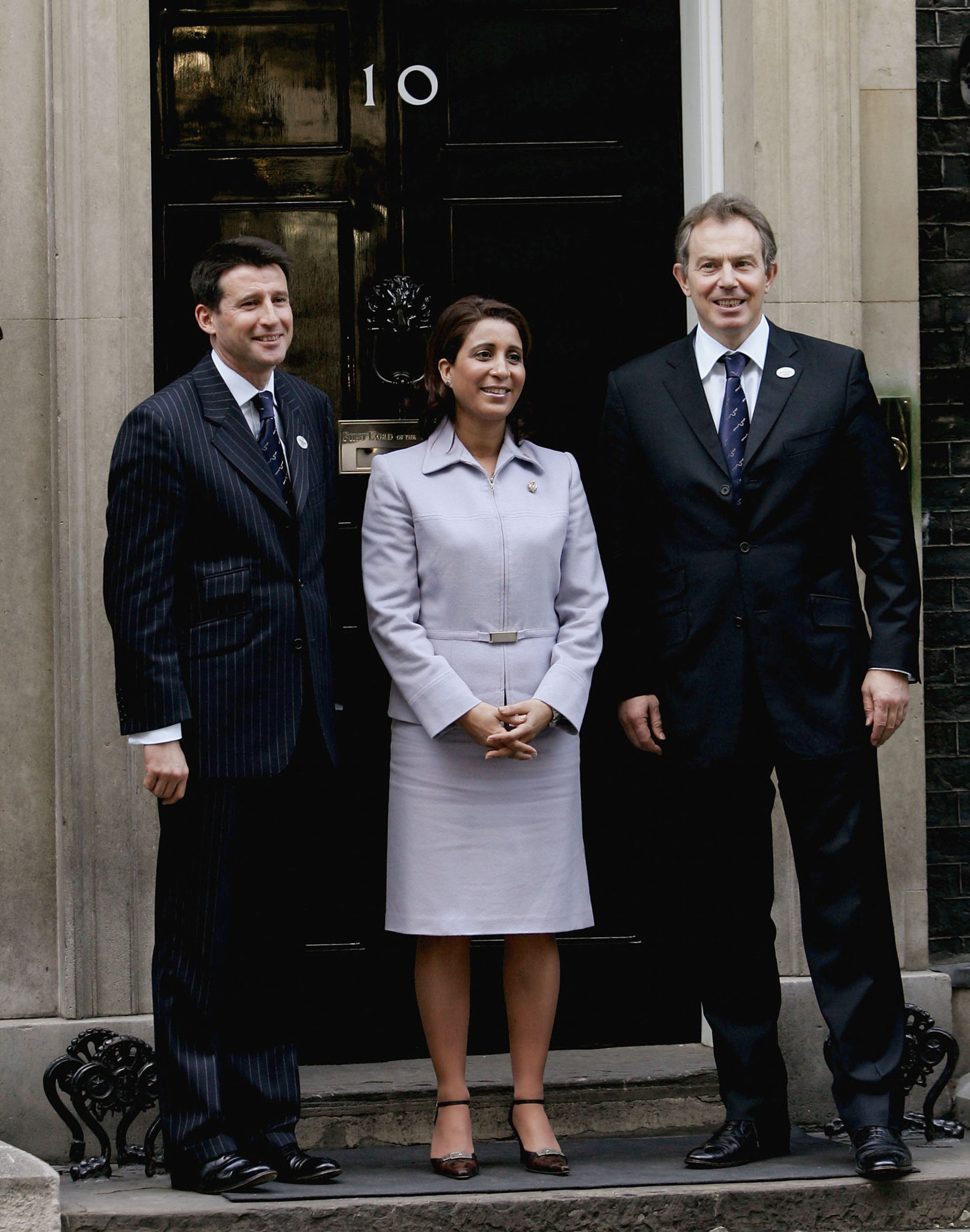 The IOC Evaluation Commission for the 2012 Olympics, led by Nawal El Moutawakel, were feted by the Queen and Prime Minister Tony Blair during their visit to London in 2005 ©Getty Images