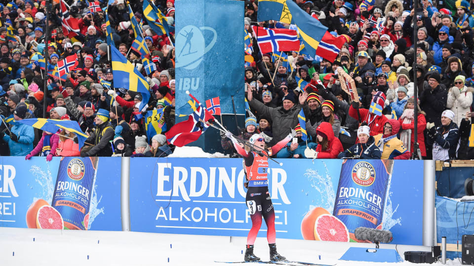 Røiseland and Bø complete dramatic Norwegian relay sweep as 16,000 watch IBU World Championships in Östersund