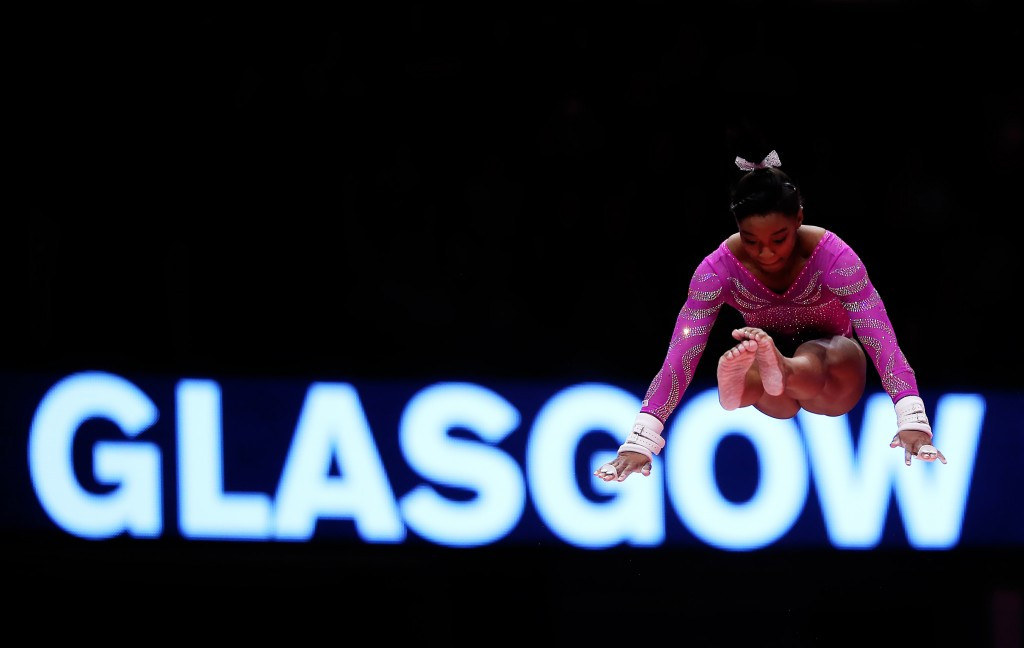 Biles stars as United States secure Rio 2016 spot and place in team final at Artistic Gymnastics World Championships