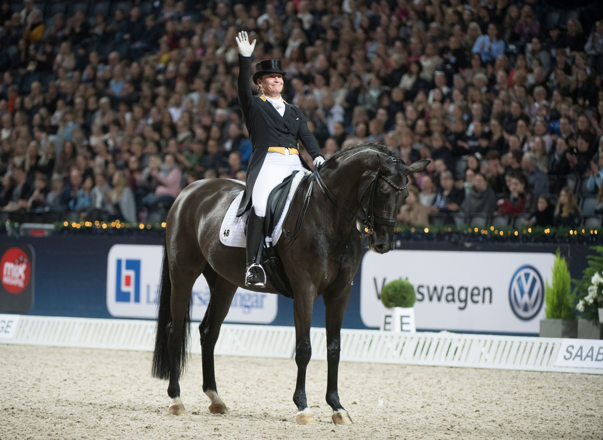 Defending champion Isabel Werth of Germany finished third in today's event ©Getty Images