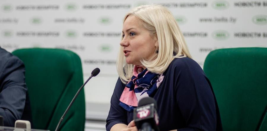 UNAIDS country manager for Belarus, Vera Ilyenkova, spoke on the details of the partnership ©Minsk 2019