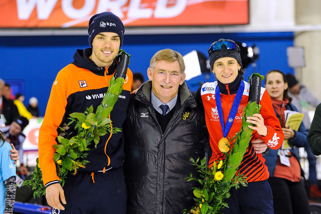 ISU President Jan Dijkema at the 2018 Allround Speed Skating World Championships - which have been controversially re-cast from 2020 onwards ©ISU