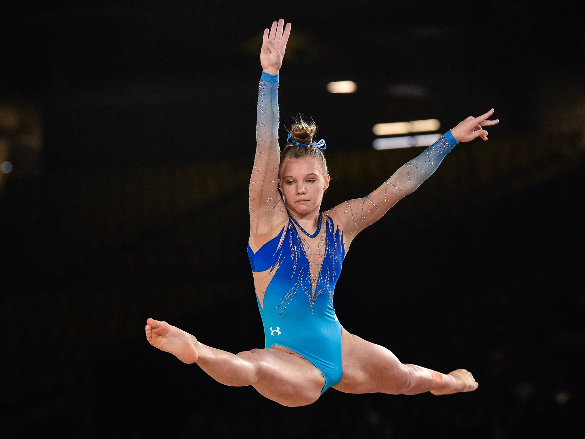 Jade Carey gained her second win of the World Cup in the women's floor ©Getty Images
