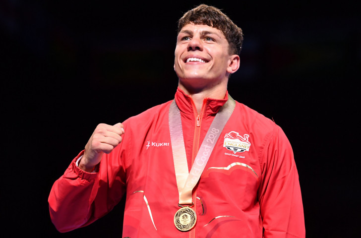 Sunderland boxer Pat McCormack celebrates gold in the 69kg boxing at last year's Gold Coast Commonwealth Games - now his city is making plans to bid for a future Games ©Getty Images