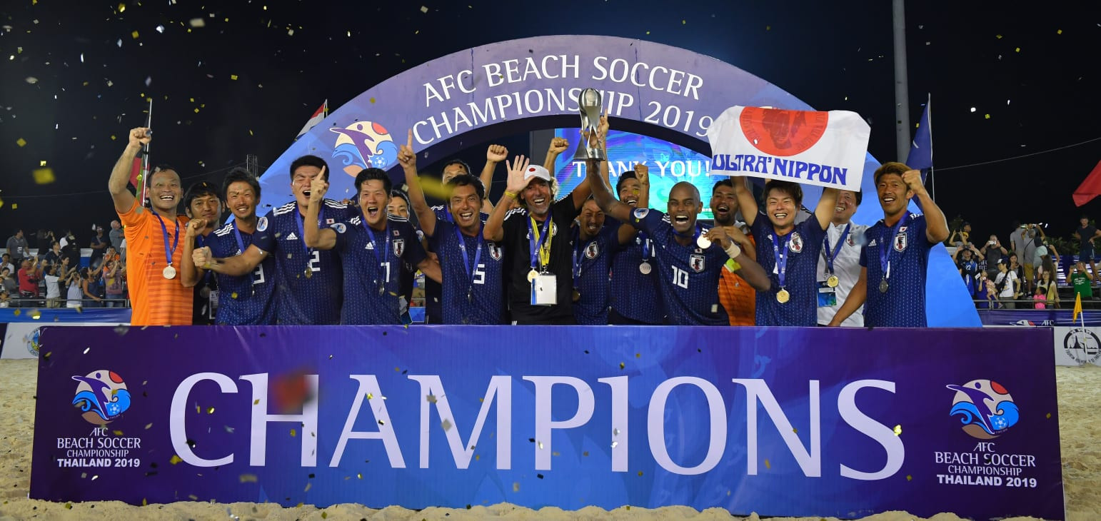 Japan beat the UAE on penalties to win the 2019 AFC Beach Soccer Championships ©AFC