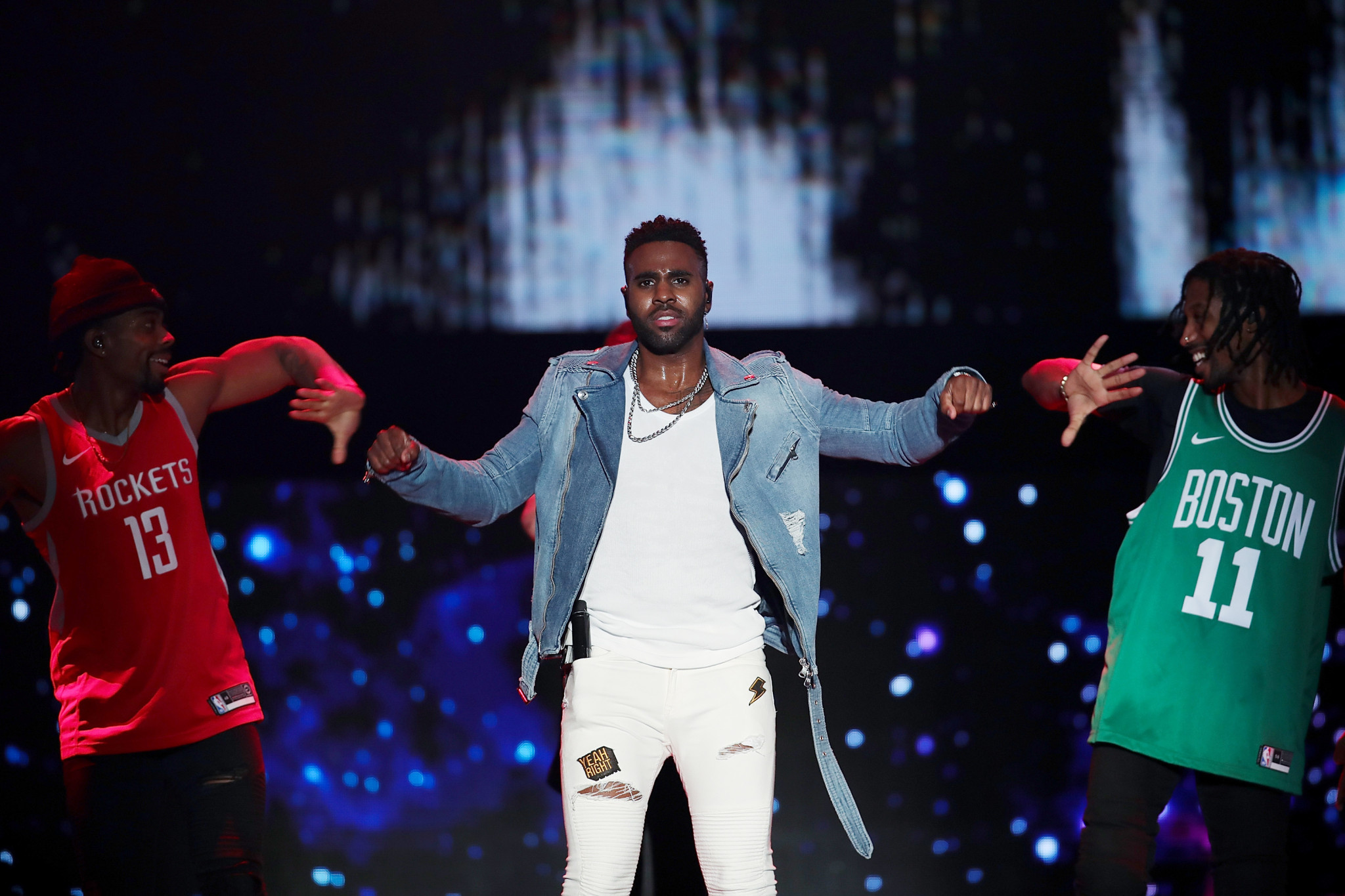 American singer songwriter Jason Derulo headlined the FIBA Basketball World Cup draw ©Getty Images