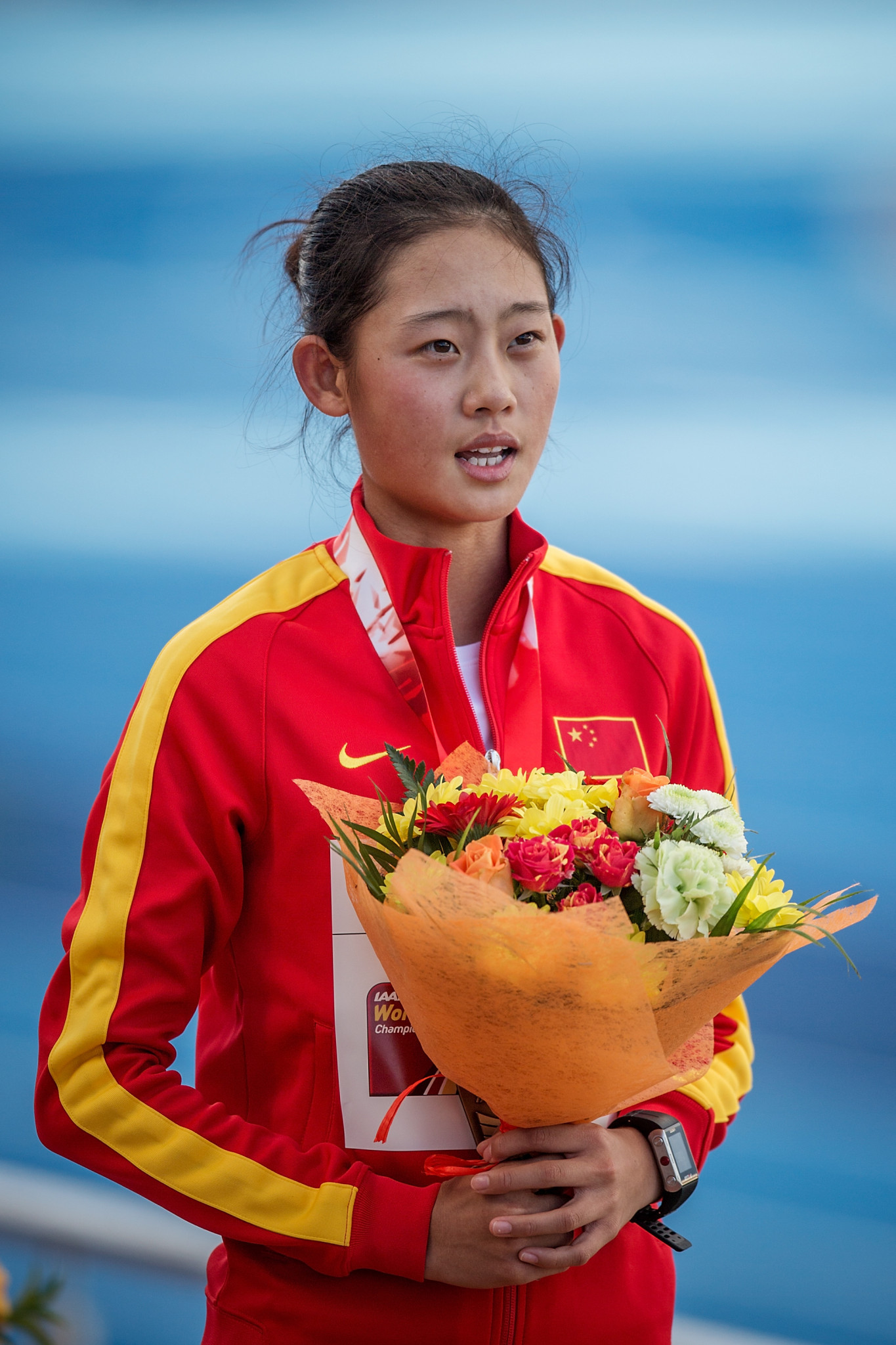 China's Ma Zhenxia led the women's race for start to finish in the third leg of the IAAF Race Walking Challenge in Japan's Nomi City, taking a full minute off her 20km best ©Getty Images