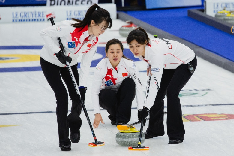 China's new team have made a perfect start to the Women's World Curling Championships in Denmark ©World Curling