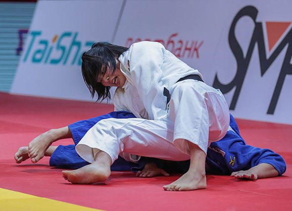 Japan's Mao Izumi won her country's only gold medal of the IJF Grand Slam in Ekaterinburg with victory in the women's under-78kg category on what was her debut at this level ©IJF