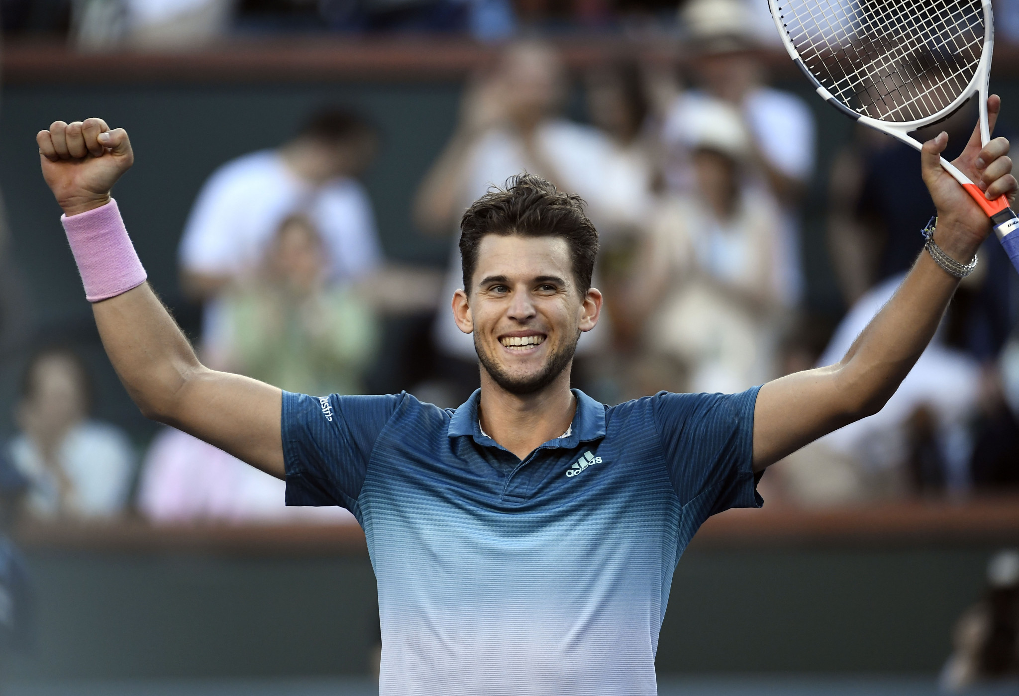 Dominic Thiem came from a set down to beat Roger Federer in the men's final ©Getty Images
