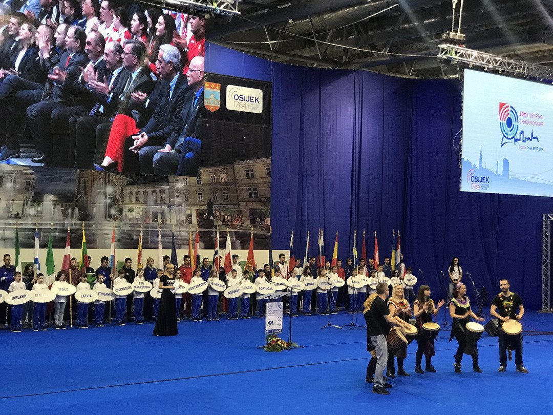 The Gradski VRT Sports Hall in Osijek is hosting the action until March 23 ©European Shooting Confederation