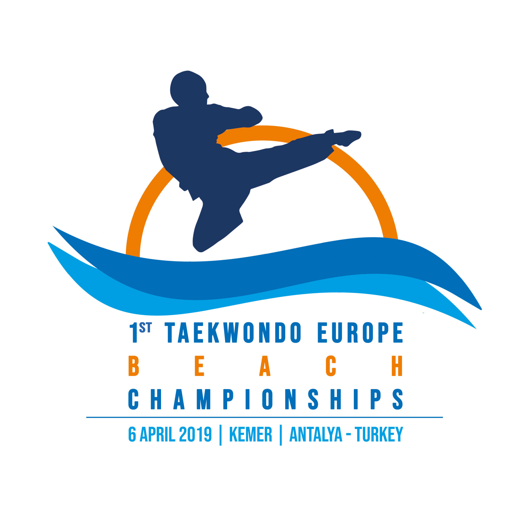 The logo for the inaugural European Taekwondo Beach Championships has been revealed ©WTE