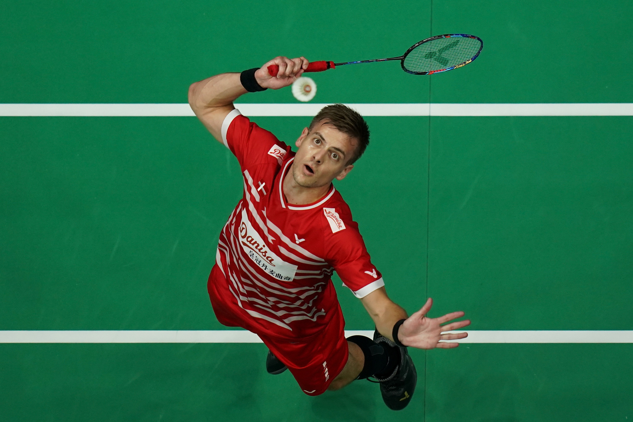 Denmark's Hans-Kristian Solberg Vittinghus has been seeded first for the men's singles competition at the Badminton World Federation Orléans Masters ©Getty Images