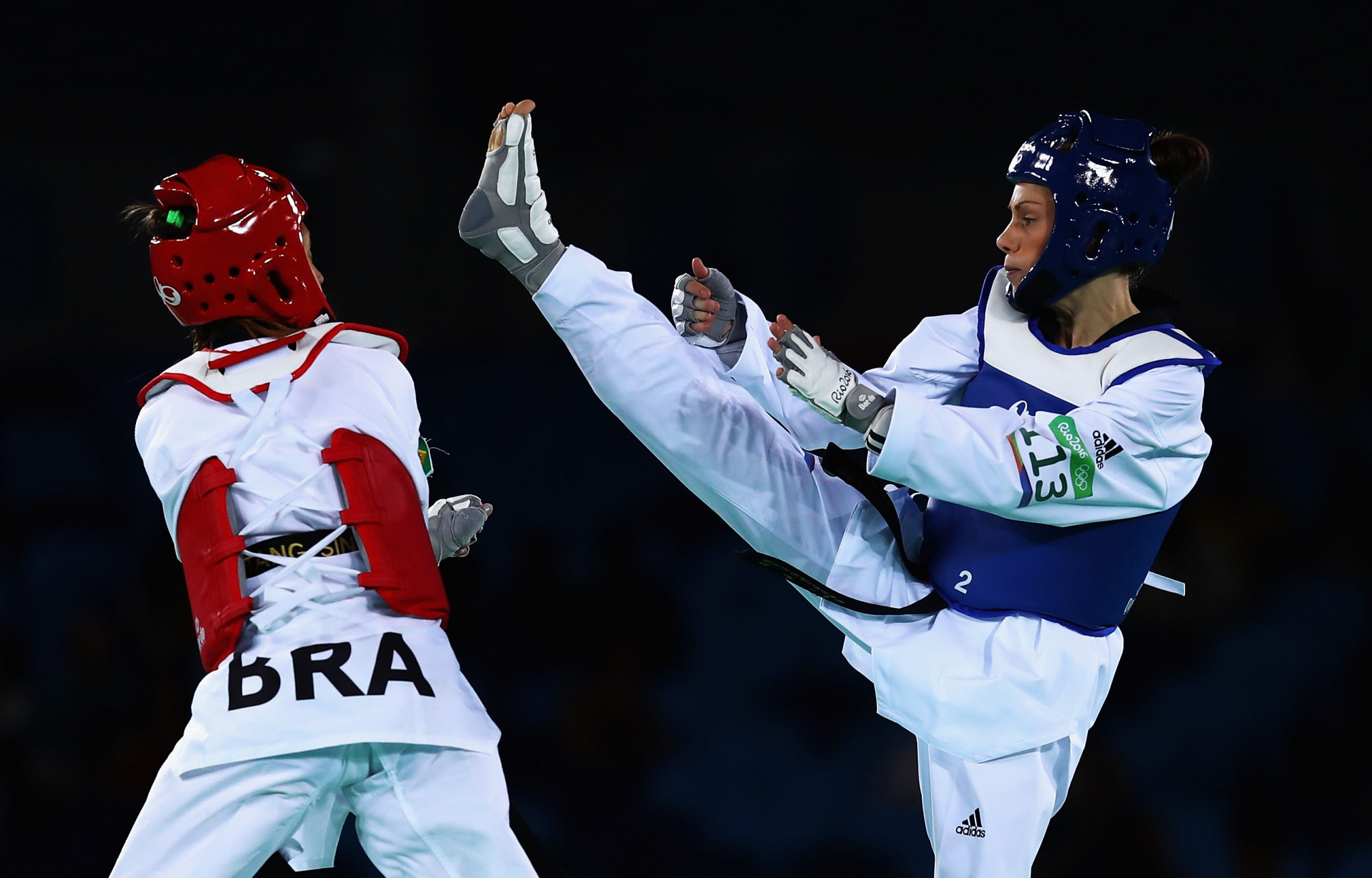Andrea Kilday was New Zealand's sole taekwondo representative at the Rio 2016 Olympic Games ©Getty Images
