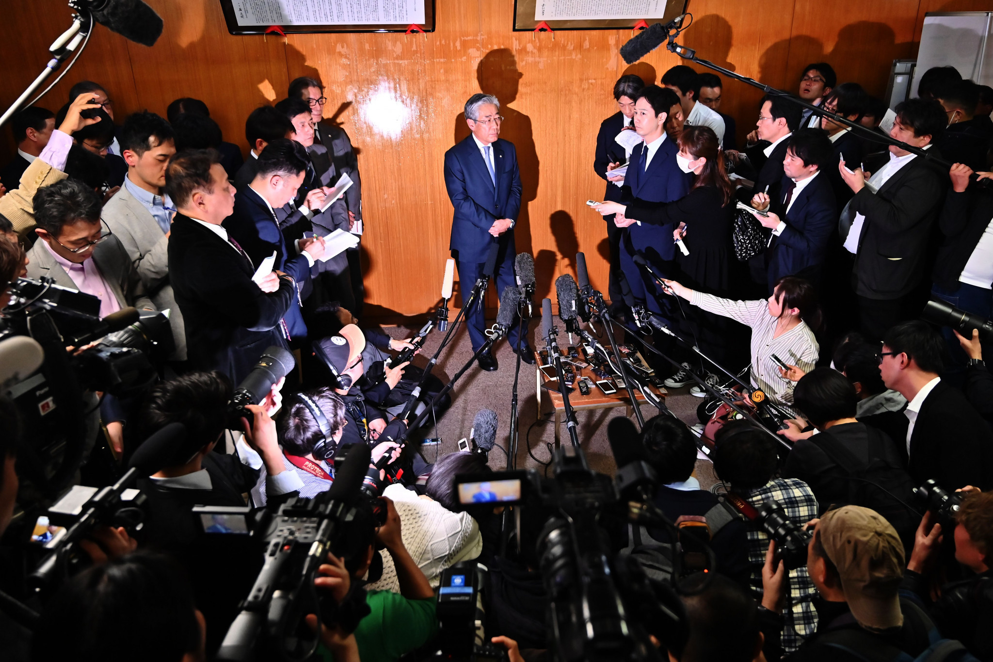 Tsunekazu Takeda made his announcement at a press conference in Tokyo ©Getty Images