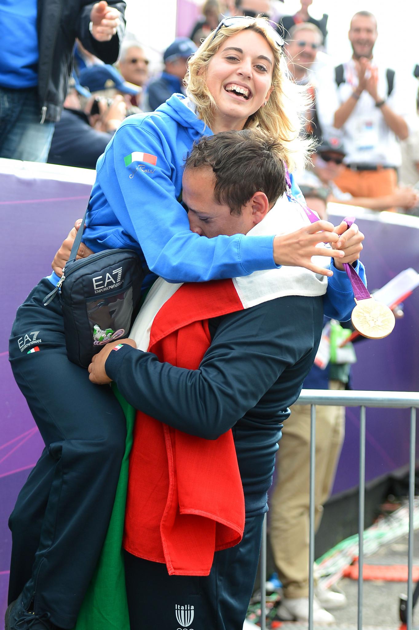 London 2012 Olympic champion Jessica Rossi took the win as Satu Makela-Nummela faltered ©Getty Images