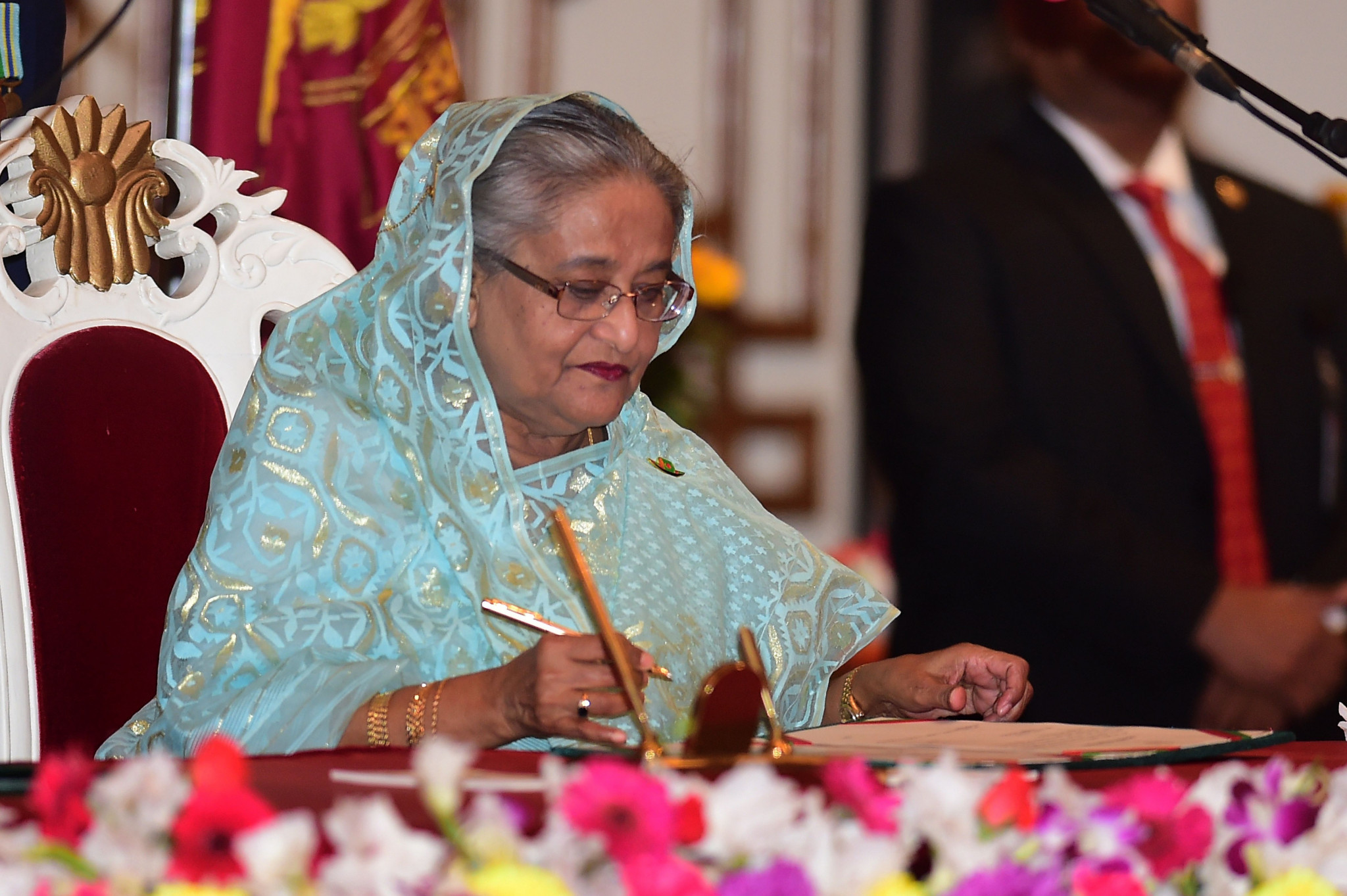 According to Amnesty International, over the past five months 60 people have been arrested in Bangladesh for criticising Sheikh Hasina or her family ©Getty Images