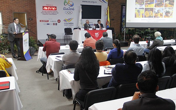 Colombian Olympic Committee provides national media with update on Rio 2016 preparations