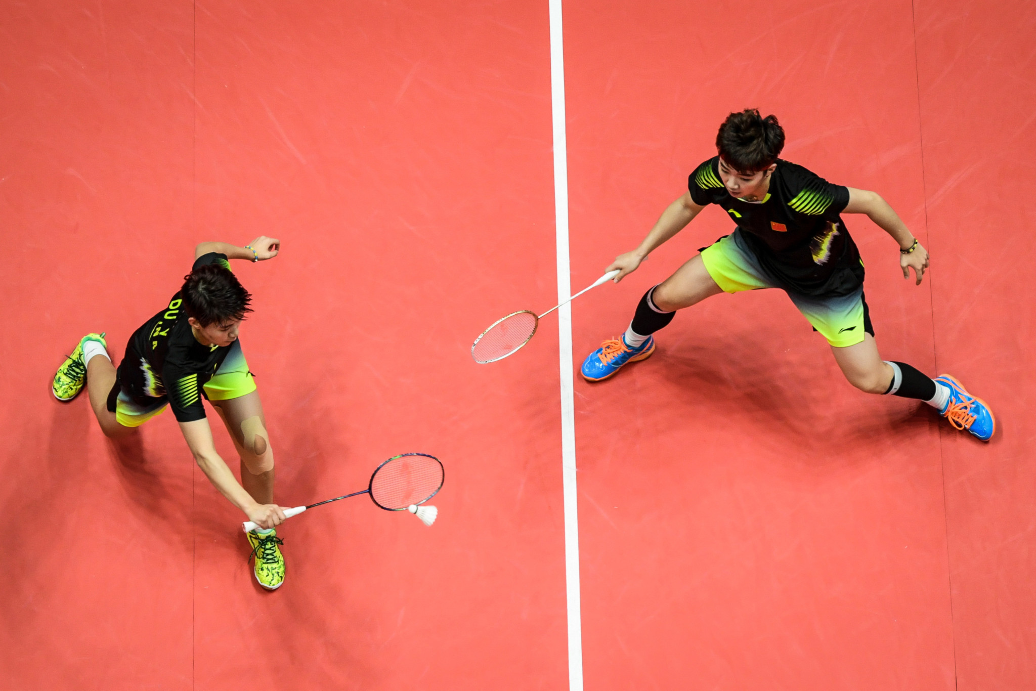 Du Yue and Li Yinhui won their women's doubles clash for China ©Getty Images