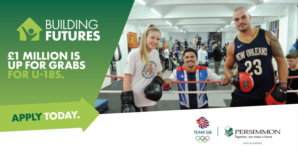Team GB will help support Persimmon Homes new £1 million a year nationwide funding scheme, which aims to assist community sports, education and arts and health initiatives for under-18s ©Persimmon Homes