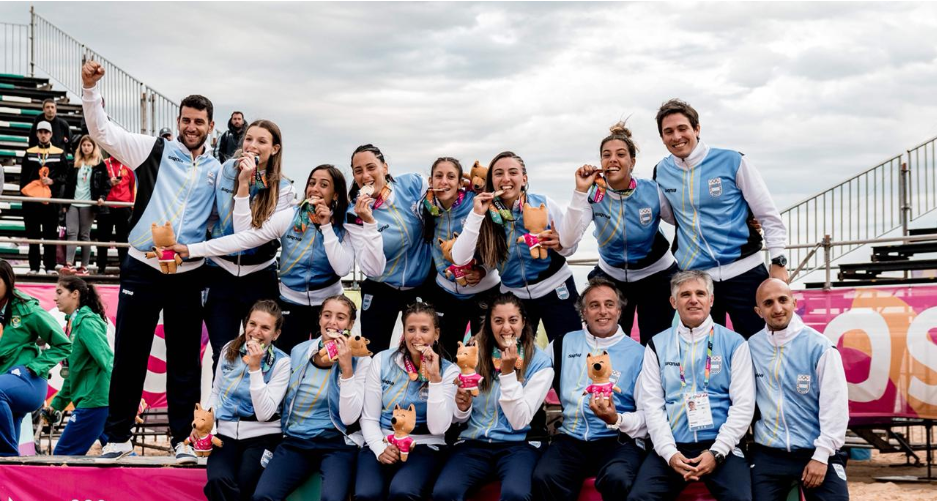 Hosts Argentina strike gold in women's handball at South American Beach Games