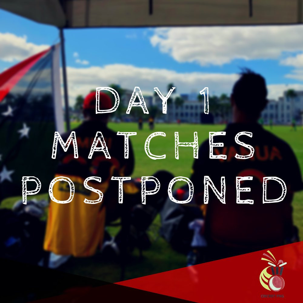 No play was possible on the opening day of the event in Port Moresby ©Twitter