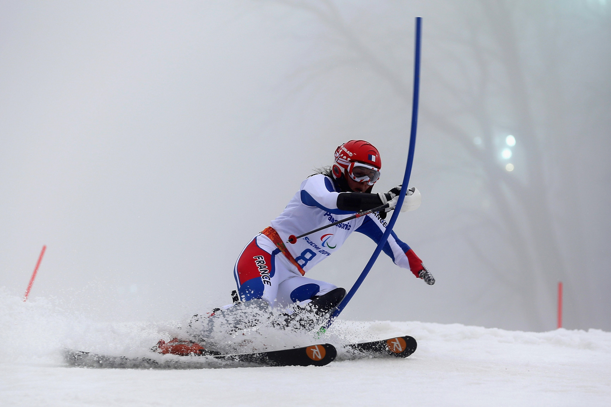 Marie Bochet claimed the women's standing gold medal for hosts France today at the World Para Alpine Skiing World Cup Finals in Morzine ©Getty Images