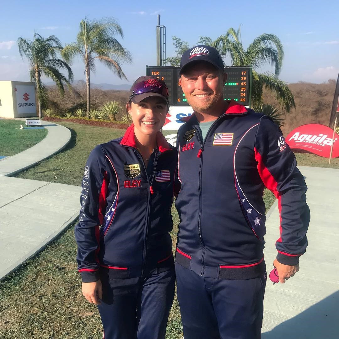Kayle Browning and Brian Burrows won silver for the United States ©USA Shooting