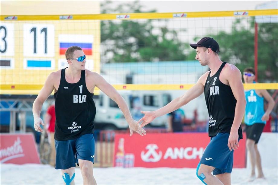 Dziadkou and Piatrushka progress to main draw at FIVB Beach World Tour event in Cambodia